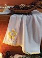 Özdilek Papatya 50x90 Nakışlı Beyaz Havlu